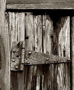 #10 'Old Barn Door Hinge' by Jim M. 9/21/07. Olympus E-510. 50-200mm f 8, 1/80 sec ISO 200 Toned