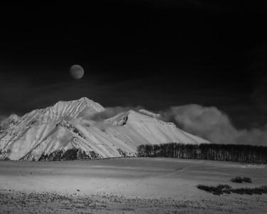 Wilson Mesa Christmas Moonrise