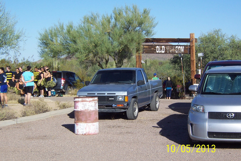 This is the 3rd Mud Run I've done. This one had the biggest obstacles, by far.<br /> To the left is the Bee Team. They have been in every mud run I've participated in. This one is staged at Old Tucson Studios.