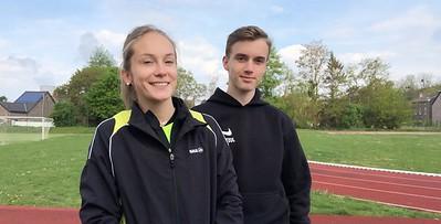 Vicky Joye et Cyril Espagnet, capitaines de l'équipe interclubs cadets-scolaires 2019