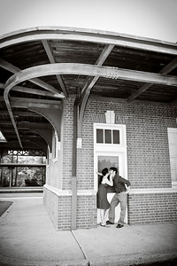 """Meet Me at the Train Station, Love\"" - Jen and Tim\'s Engagement PortraitPhotographers Name : Michelle LawlorPhotographers Location : Ewing, NJTo vote in favor for this photo, simply add a comment below. You can also share this photo on Facebook and Twitter using the buttons above."