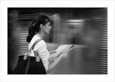 Neil Macindoe print of the year-Subway solitude
