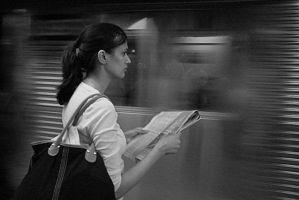 Neil Macindoe Subway solitude