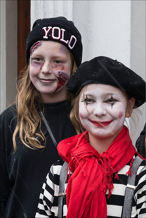 Children dress in costume and sing for treats on the first day of Lent. Honorable Mention, Journalism Prints, N4C, April 2014