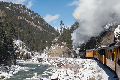 Durango Silverton RR along the Animas River