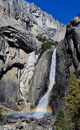 Mistbow at Lower Yosemite Fall. (3rd Travel Print, N4C April 2013).