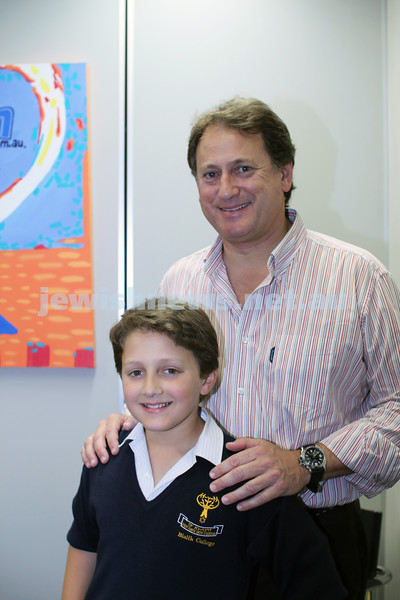 27-10-2011. Rosh Hashanah card competition finalists 2011. Joshua and Peter Worth. Photo: Lochlan Tangas