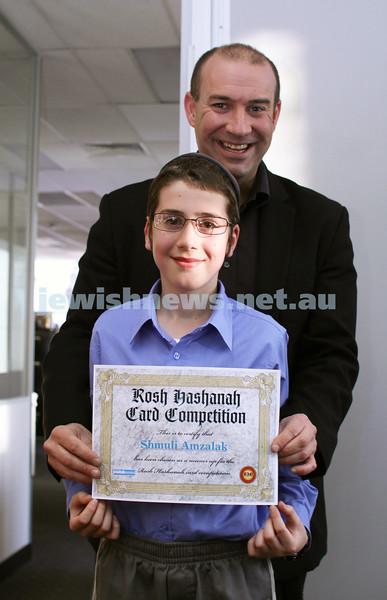 27-10-2011. Rosh Hashanah card competition finalists 2011. Shmuli Amzalak and Zeddy Lawrence. Photo: Lochlan Tangas