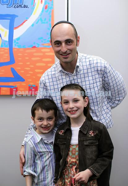 27-10-2011. Rosh Hashanah card competition finalists 2011. Dana, Davi and Daniel Lazar. Photo: Lochlan Tangas