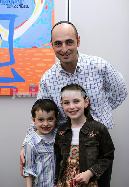 27-10-2011. Rosh Hashanah card competition finalists 2011. Dana, Davi and Daniel Lazar. Photo: Lochlan Tangas