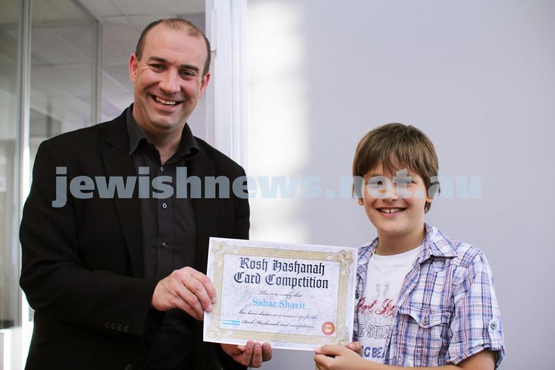 27-10-2011. Rosh Hashanah card competition finalists 2011. Sahar Shavit and Zeddy Lawrence. Photo: Lochlan Tangas