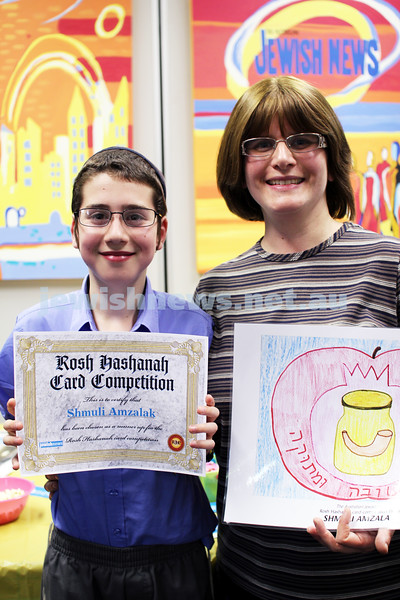 27-10-2011. Rosh Hashanah card competition finalists 2011. Shmuli and Sara Amzalak. Photo: Lochlan Tangas