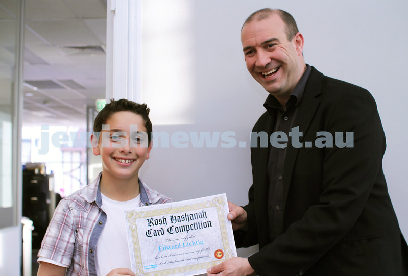 27-10-2011. Rosh Hashanah card competition finalists 2011. Edward Lichtig and Zeddy Lawrence. Photo: Lochlan Tangas