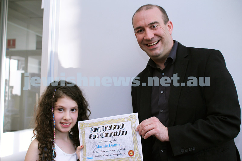 27-10-2011. Rosh Hashanah card competition finalists 2011. Marnie Danos and Zeddy Lawrence. Photo: Lochlan Tangas