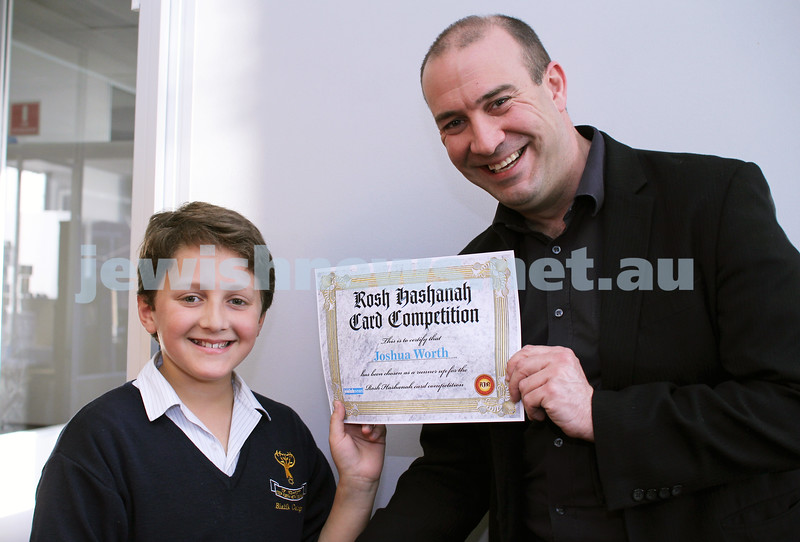 27-10-2011. Rosh Hashanah card competition finalists 2011. Joshua Worth and Zeddy Lawrence. Photo: Lochlan Tangas