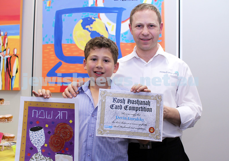 27-10-2011. Rosh Hashanah card competition finalists 2011. Devin and Darron Goralsky. Photo: Lochlan Tangas