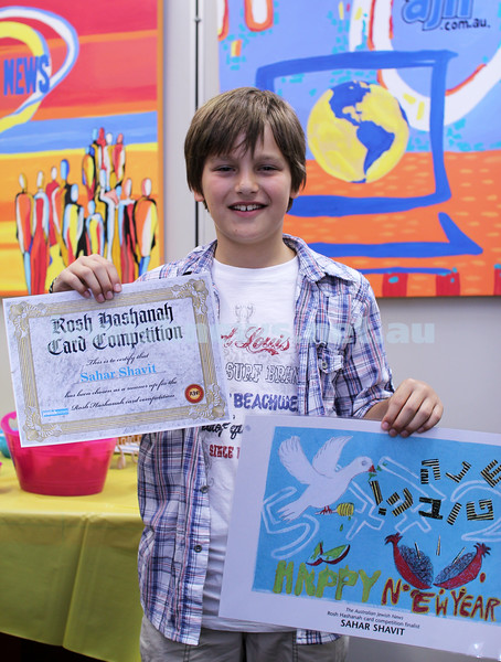 27-10-2011. Rosh Hashanah card competition finalists 2011. Sahar Shavit. Photo: Lochlan Tangas