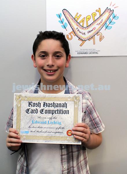27-10-2011. Rosh Hashanah card competition finalists 2011. Edward Lichtig. Photo: Lochlan Tangas