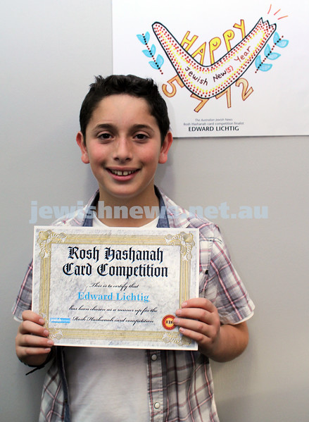 27-10-2011. Rosh Hashanah card competition finalists 2011. Edward Lichtig. Photo: Lochlan Tangas