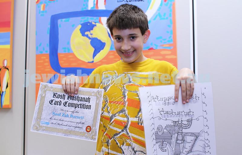 27-10-2011. Rosh Hashanah card competition finalists 2011. Saul Barnett. Photo: Lochlan Tangas