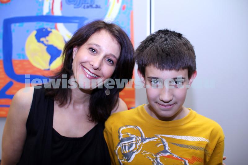27-10-2011. Rosh Hashanah card competition finalists 2011. Anne Barnett, Saul Barnett. Photo: Lochlan Tangas