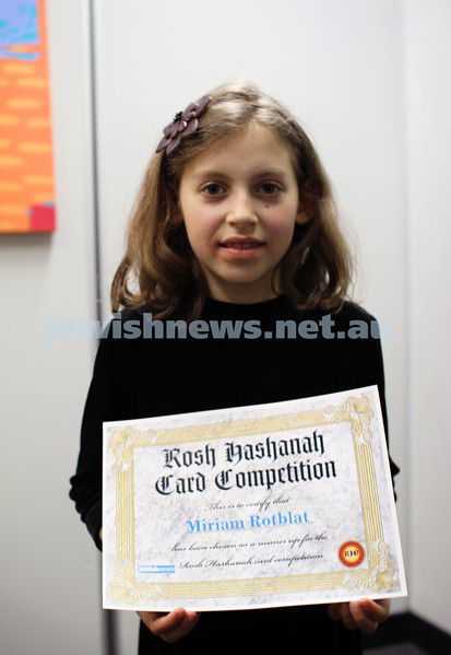 27-10-2011. Rosh Hashanah card competition finalists 2011. Miriam Rotblat. Photo: Lochlan Tangas