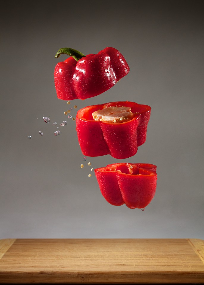 """Sliced Red Pepper<br /> by John Gasca<br /> <br /> 2nd Place in the """"Red"""" Saddleback Challenge 2013<br /> Behind the Scenes gallery:  <a href=""""http://video-line.smugmug.com/BehindtheScenes/Sliced-Red-Pepper-BTS/27228309_L2cdTZ#!i=2287550407&k=HmQZbzF"""">http://video-line.smugmug.com/BehindtheScenes/Sliced-Red-Pepper-BTS/27228309_L2cdTZ#!i=2287550407&k=HmQZbzF</a>"""