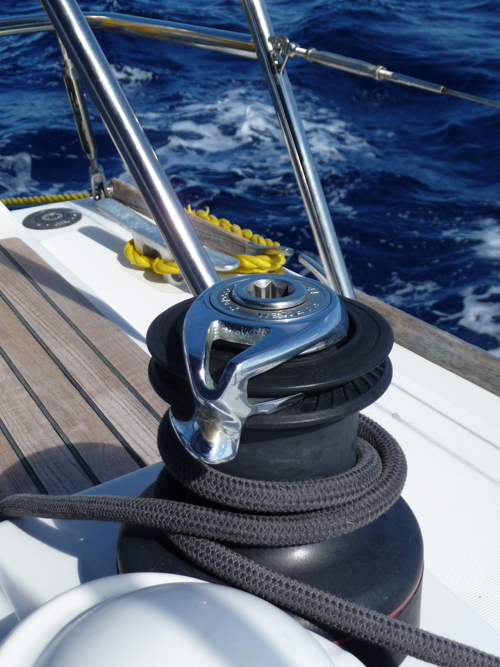 """""""Winch and Line"""" aboard La Sirene out of Oyster Pond, St. Maartin 2011 - Thomas R. Hefty"""