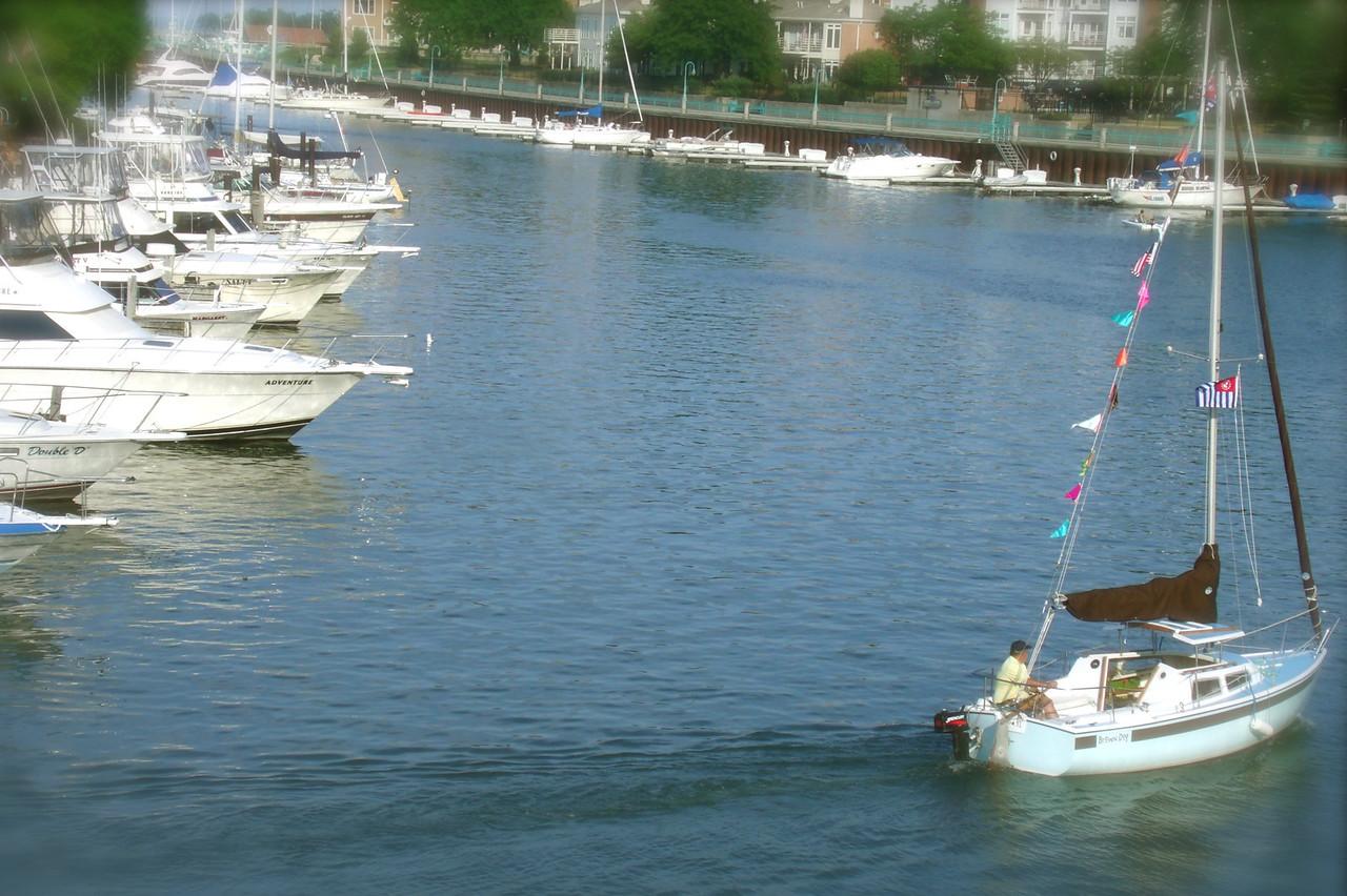 A perfect day...Racine Harbor, Racine, WI - Kristin Harmon
