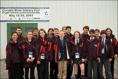 Team BASEF at the CWSF in Truro, Nova Scotia. Carolyn, Peter, Lisa Marie, Joseph, Tanya, Shreya, Anthony, Tobias, _____, Lauren, ____, Faraaz, ____, ____ (TBU)