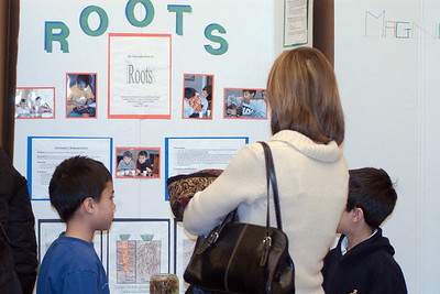Canadian Martyrs' School Fair ... MiPatrick Chong explains his Roots Project