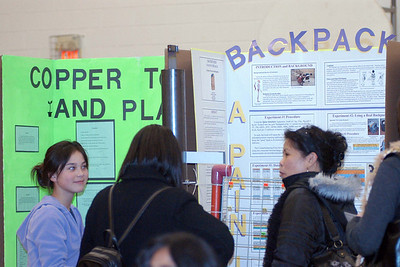 Canadian Martyrs' School Fair ... Carolyn Chong explains her BackPack Project