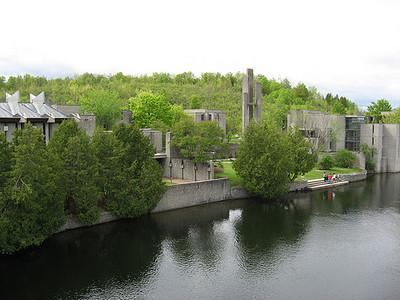 Trent University on river Trent (?)