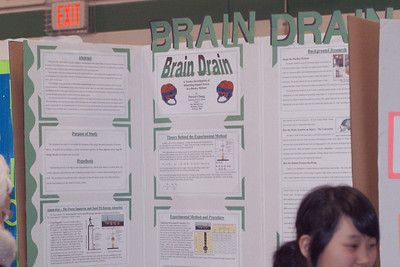 BRAIN DRAIN is Patrick's science project investigating the energy absoption properties of a hockey helmet.