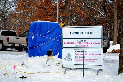Snow sculpture for contest Jan. 2011