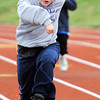 Austin J. Liberty-Ackerson, 12, of Avilla, competes in the 50-meter during the Special Olympics Friday morning, April 20, 2012, at MSSU's Fred G. Hughes Field. Globe/T. Rob Brown