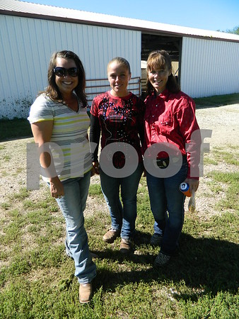Left to right: Danielle Griggs- director of the NBHA IA, Megan Storey, and Roxane Kohlhof