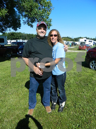 Left to right: Ron Allbee and Angela Goings