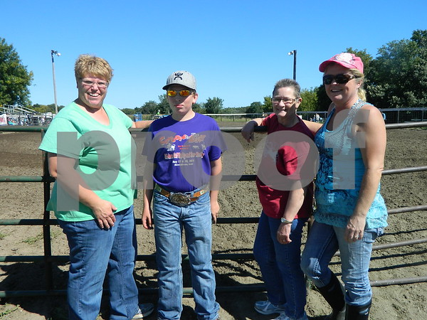 Left to right: Jacy Barker, Garrett Barker, Arla Grady, Andrea Grady