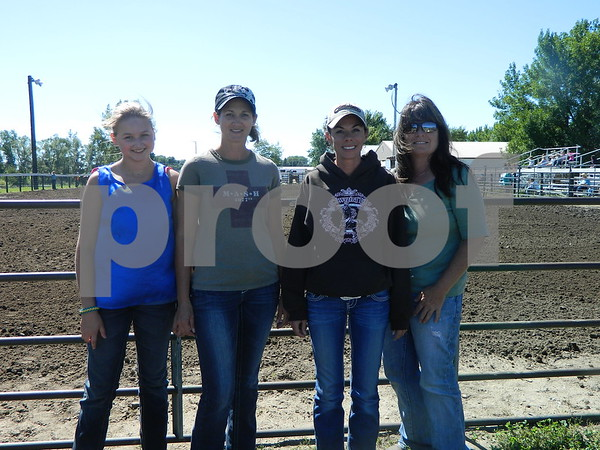 Left to right: Ellen Iles, Michelle Spillman, Kyla Gunderson, Catrina Gunderson