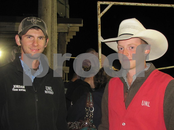 Jordan Burhoop and Whitley McBride at the Triton Stampede held at Webster County Fairgrounds.
