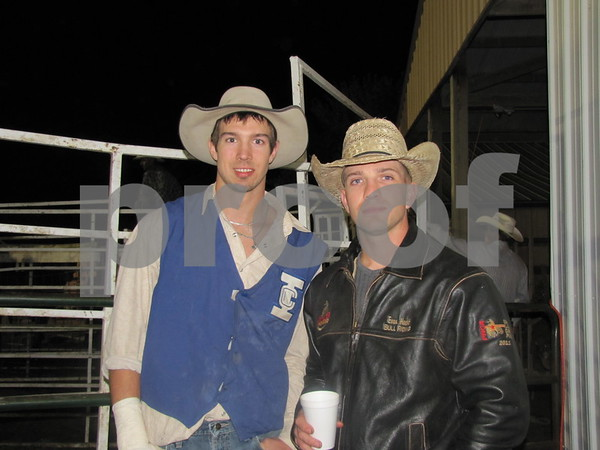 Brothers Ethan and Evan Hecht at the Triton Stampede held at Webster County Fairgrounds.