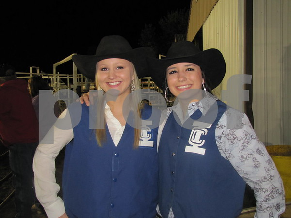 Allie Hemish and Anna Kissner at the Triton Stampede at Webster County Fairgrounds.