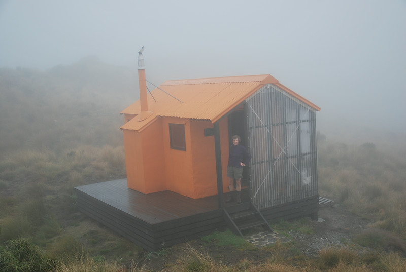 HCL-TTC-Pete Smith-A misty day in Mt Brown hut
