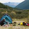Jane Boydon makes a brew in the Matakitaki Valley, Nelson Lakes region