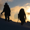 Alpine instruction students heading to Tararua Lodge on Mt Ruapehu