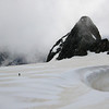 Paul Maxim and Steve Hutchison cross the Sladden Glacier towards Mt Massey (Aoraki Mount Cook National Park).