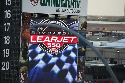 Here's the race logo on the jumbotron screen near where we sat.