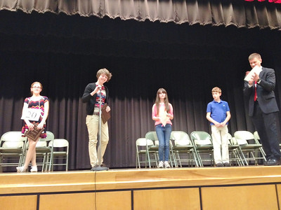 The scene at Boyertown Elementary on Wednesday, April 16, during the sixth grade spelling bee.
