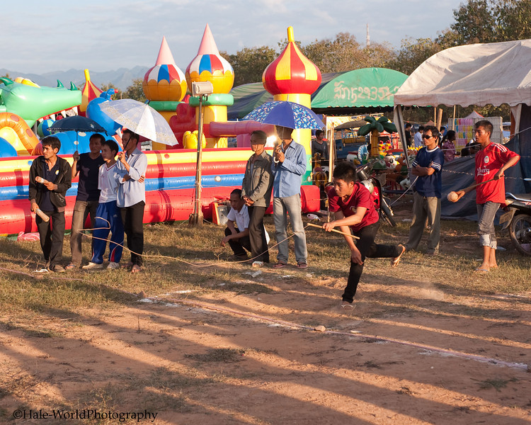Late Afternoon Tujlub Competition In Laos